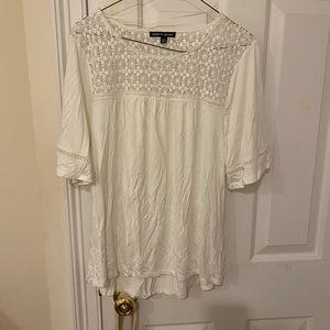 White summer blouse size medium